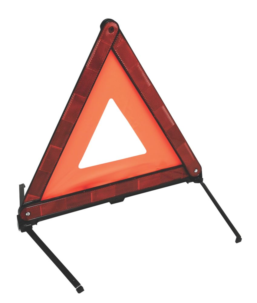 Hilka Pro-Craft  Foldable Warning Triangle Red