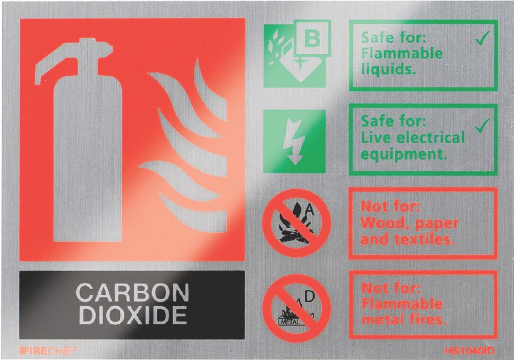 "Firechief  ""CO2"" Fire Safety Sign 150 x 100mm"