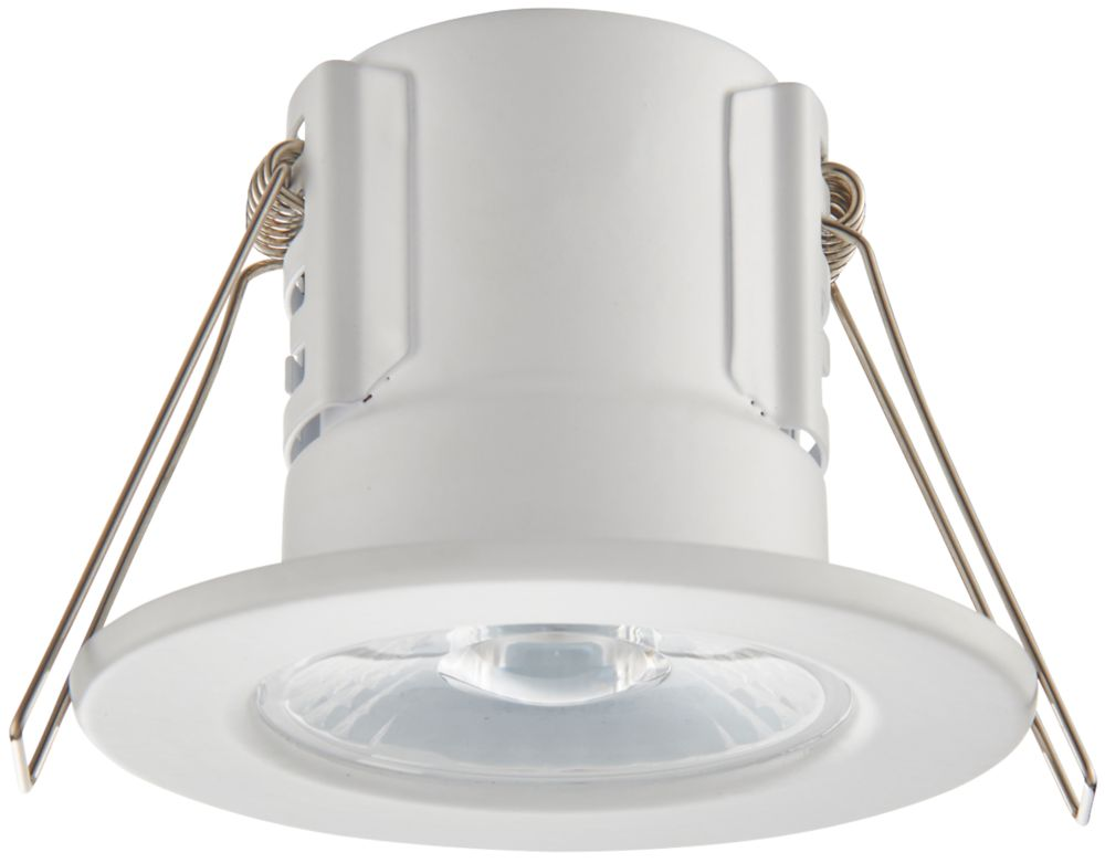 LAP CosmosEco Fixed  Fire Rated LED Downlight Matt White 500lm 5.5W 220-240V