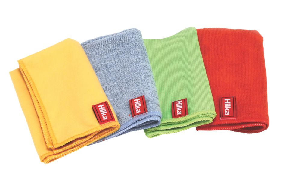 Hilka Pro-Craft Polyester & Nylon Microfibre Cloth Set 4 Pieces