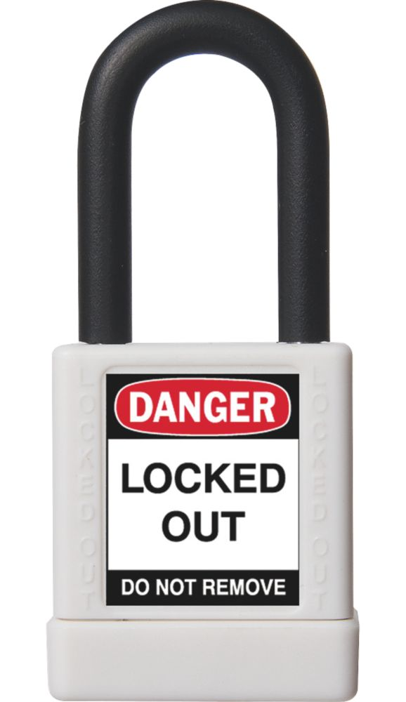 Abus  Aluminium Lock-Off Padlock White 19 x 38mm