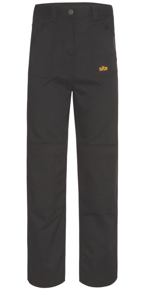 "Site Beagle Ladies Trousers Black Size 16 32"" L"