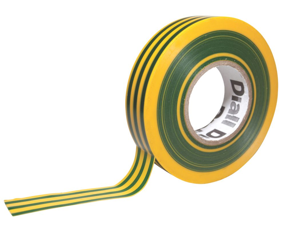 Diall 510 Insulating Tape Green / Yellow 33m x 19mm