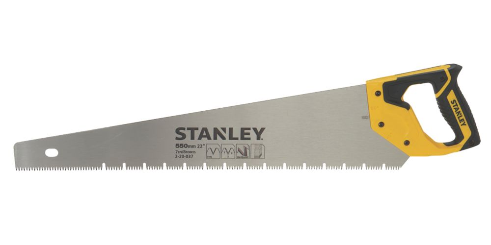 "Stanley Plasterboard Saw 22"" (550mm)"