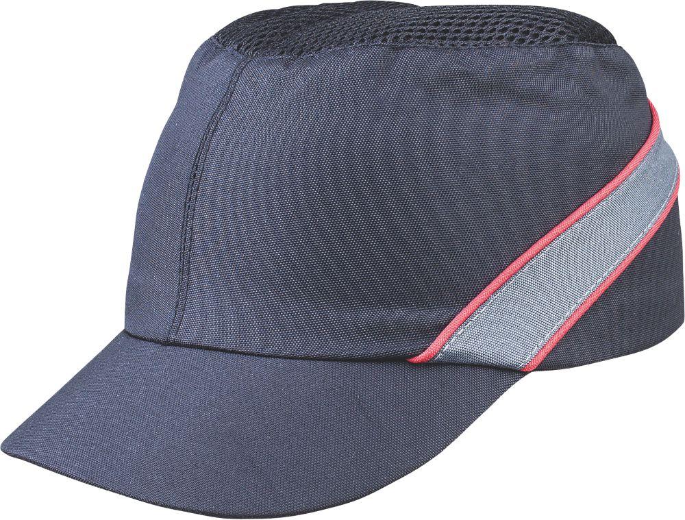 Delta Plus COLTAAINOSH Short Peak Bump Cap Black / Red