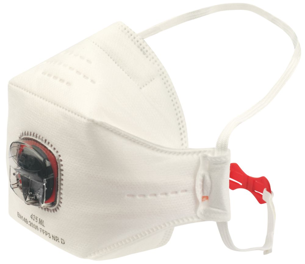 JSP SpringFit Disposable Tri-Fold Flat Mask P3