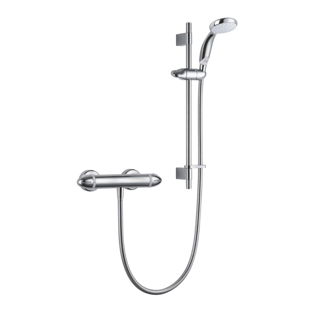 Mira Coda Pro Rear-Fed Exposed Polished Chrome  Thermostatic Mixer Shower