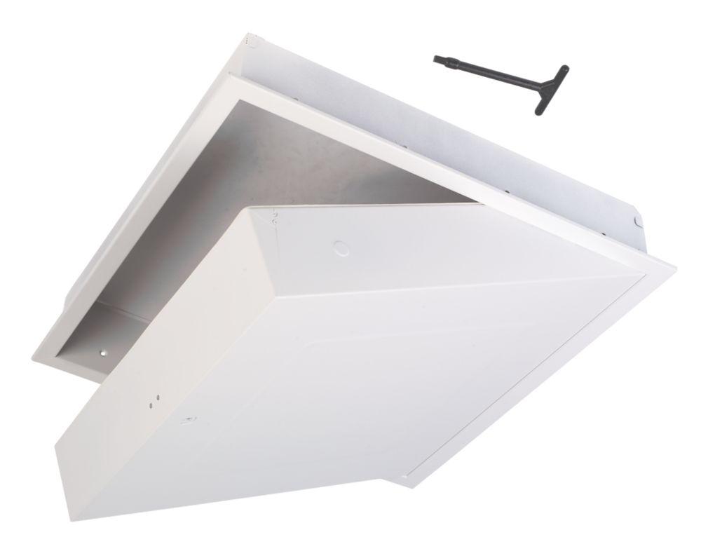 Manthorpe GL270F Fire-Resistant Drop-Down Loft Door White 562 x 562mm