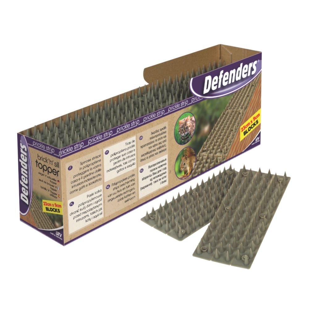 STV Pest Free Defenders Prickle Strip Brick & Sill Top Pest Deterrent 24 Pack