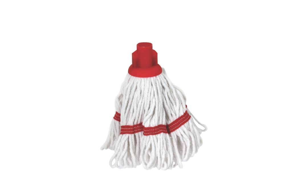 Bentley SF/HR/BS.35/R Pure Yarn Cotton Mop Head Red 5 Pack