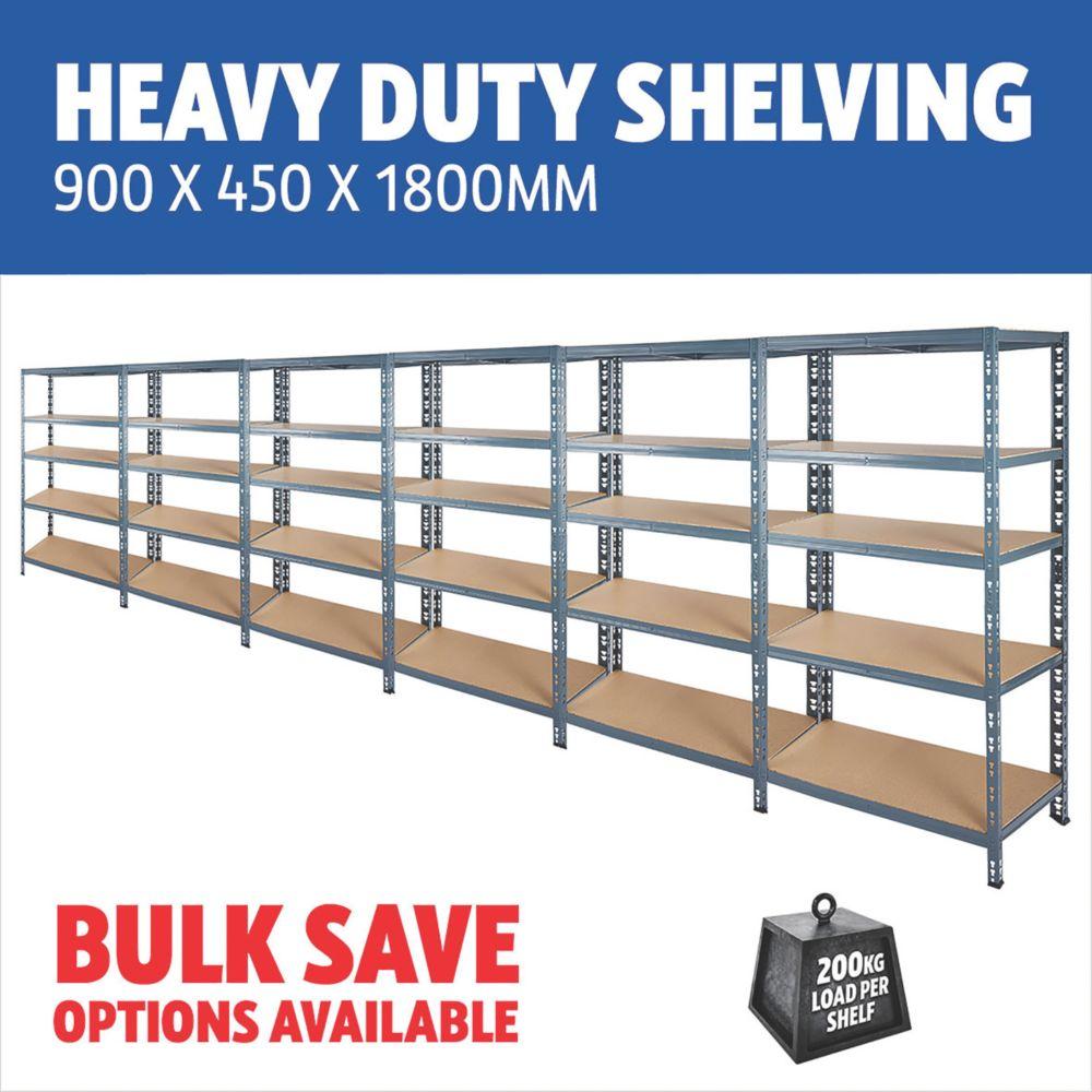 Heavy Duty Shelving 900 x 450 x 1800mm