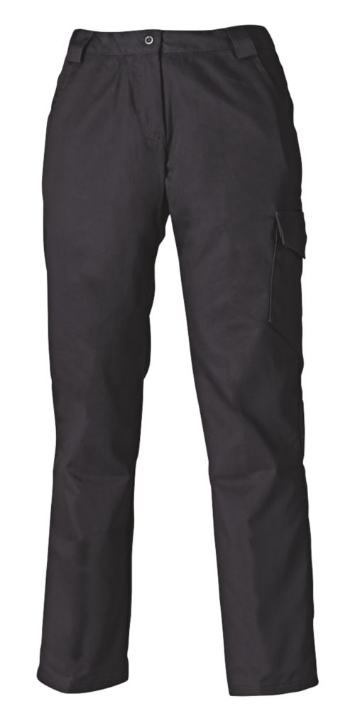 "Dickies Redhawk Ladies Trousers Black Size 20 31"" L"