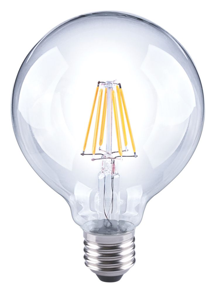LAP  ES Globe LED Virtual Filament Light Bulb 810lm 7W