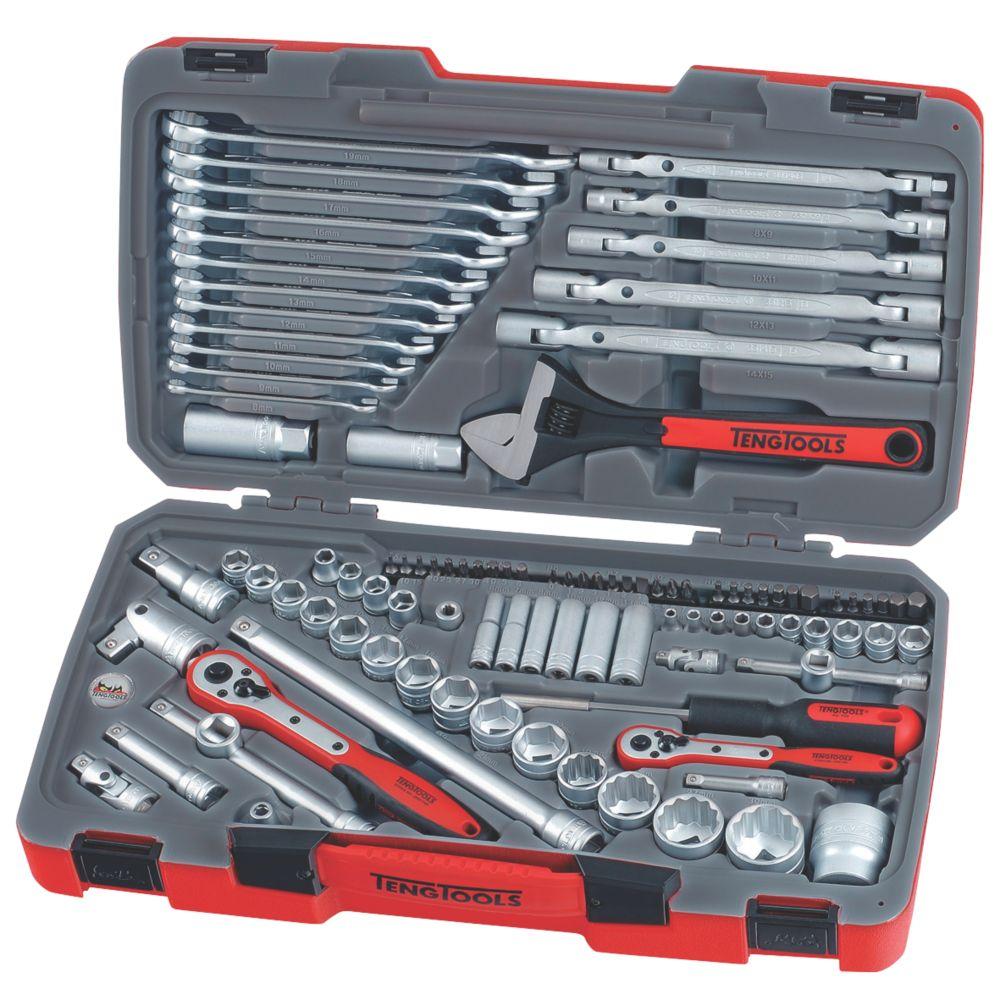 Teng Tools  Mixed Drive Socket & Tool Set  106 Pieces