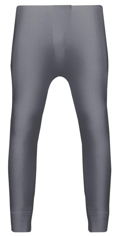 "Workforce  Thermal Baselayer Trousers Grey X Large 39-41"" W 31"" L"