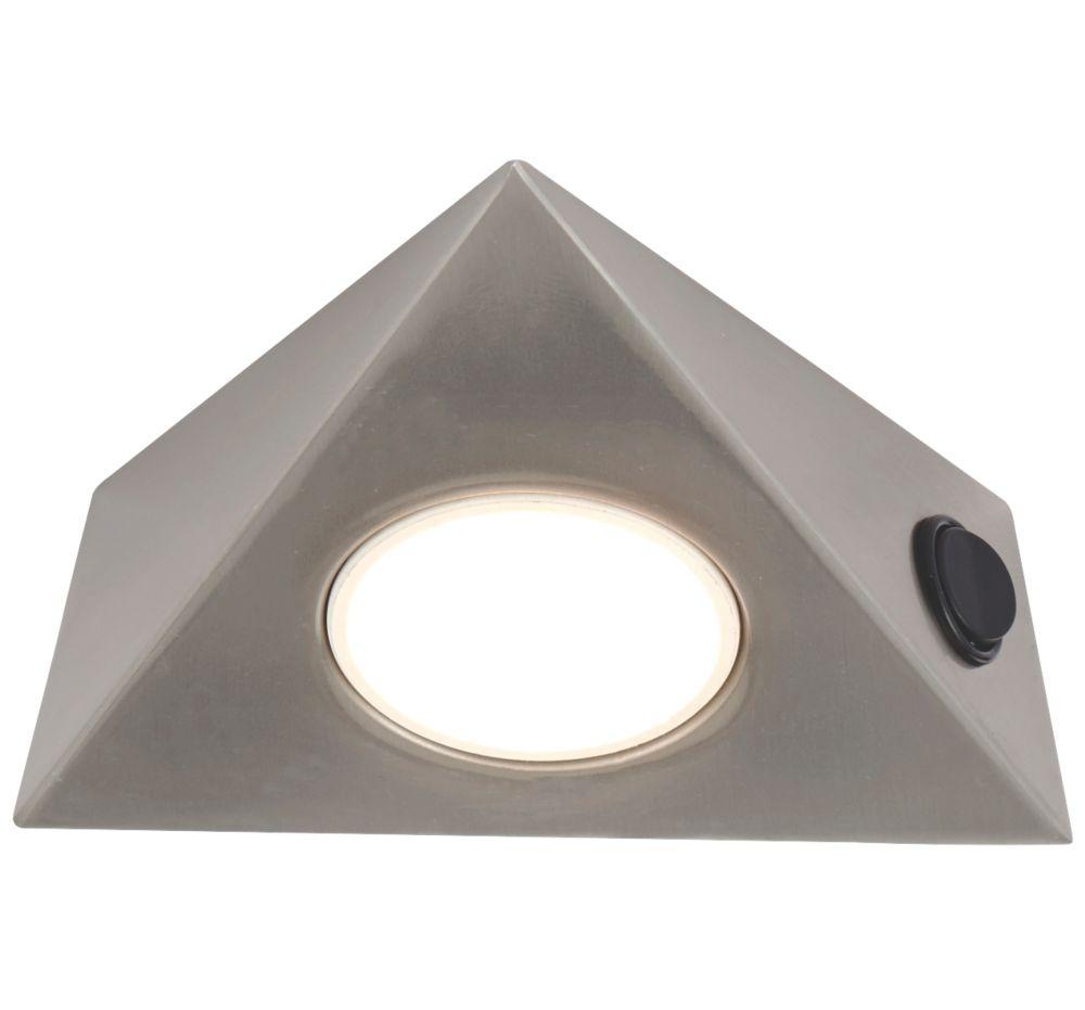 LAP  Triangular LED CCT Cabinet Downlight Satin Nickel 5W 400lm 240V