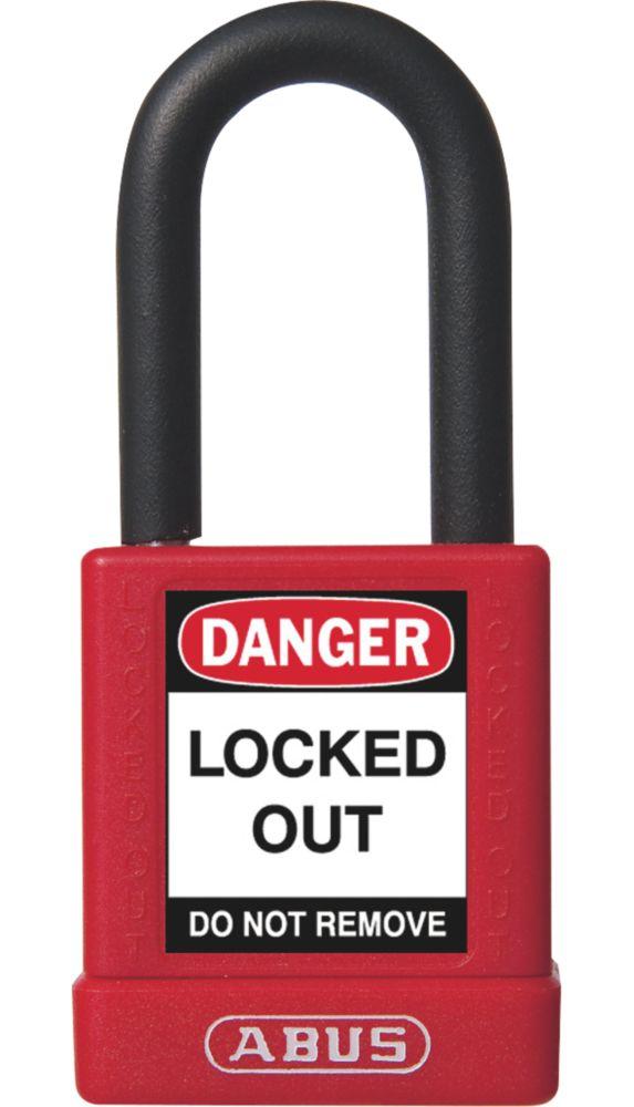 Abus  Aluminium Lock-Off Padlock Red 19 x 38mm