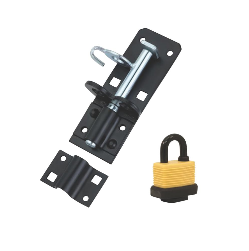 Hardware Solutions Gate Bolt Kit Black 130mm
