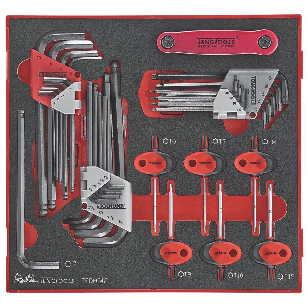 Teng Tools  EVA Hex & TX Key Set 42 Pieces