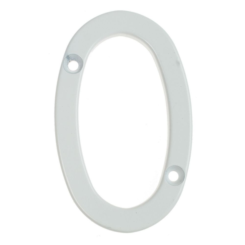 Fab & Fix Door Numeral 0 White 80mm