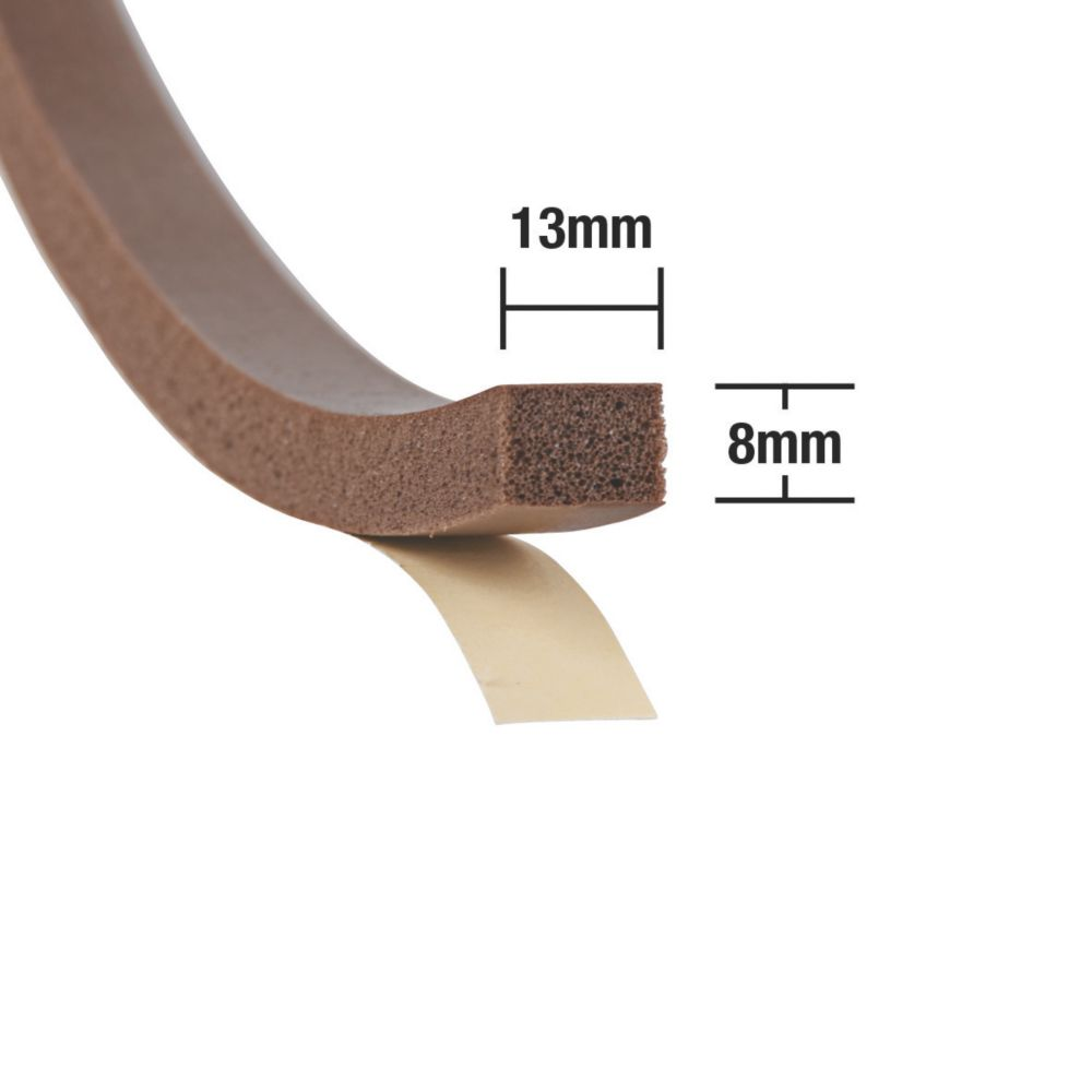 Stormguard Extra Thick Weatherstrip Brown 3.5m 2 Pack