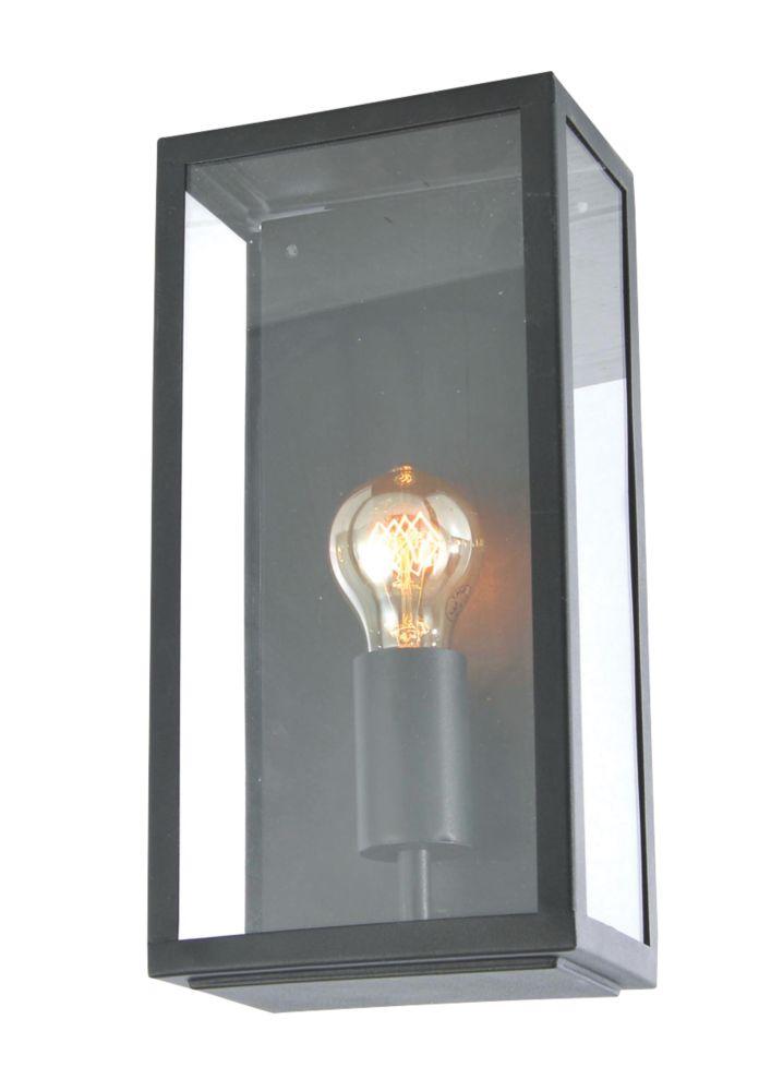 Zinc Minerva Black Metal Framed Box Lantern 60W