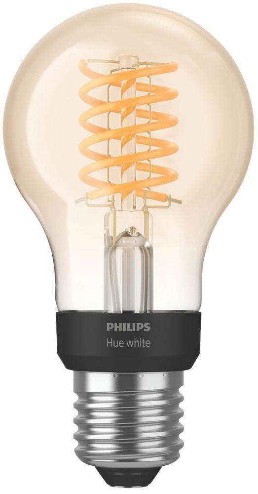 Philips Hue  LED Decorative ES Virtual Filament Smart Bulb Warm White 7W 550Lm
