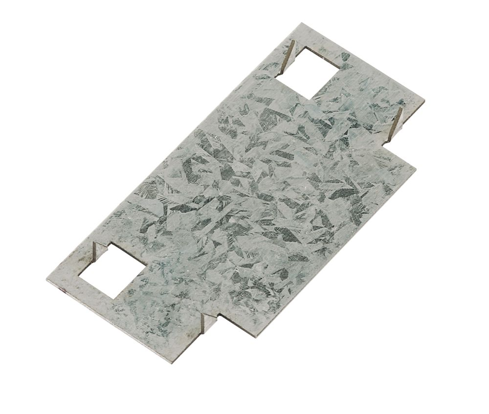 Sabrefix Protecta Safe Plate Galvanised 90mm x 45mm 20 Pack