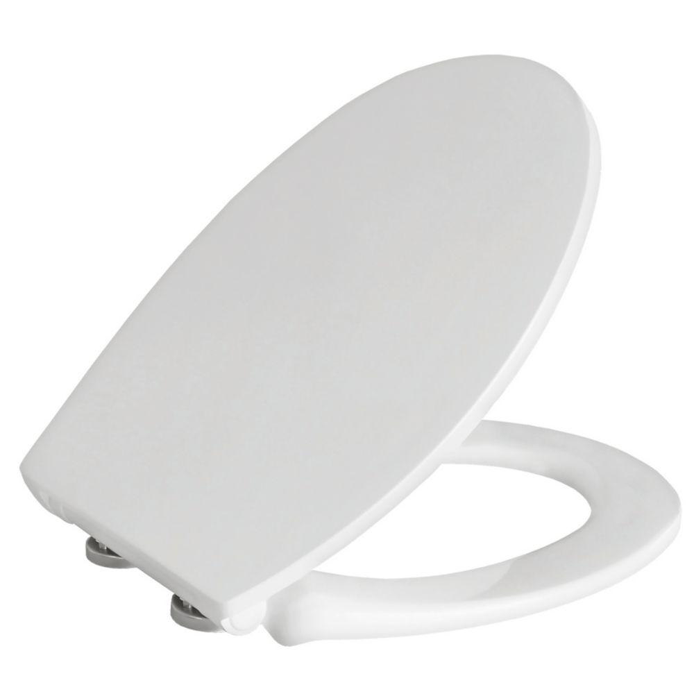 Carrara & Matta Lucca Soft-Close with Quick-Release Toilet Seat Thermoset Plastic White
