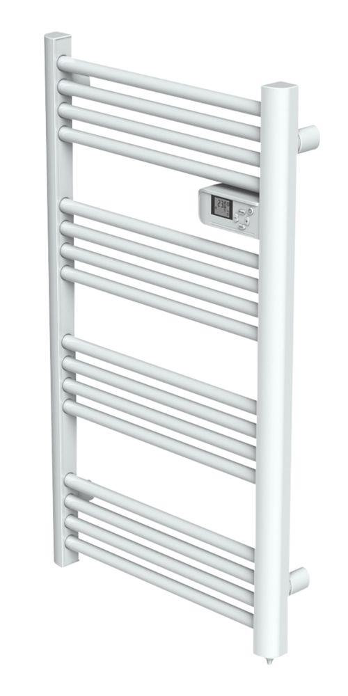 Electric Pre-Filled Towel Radiator 980 x 550mm White 800BTU