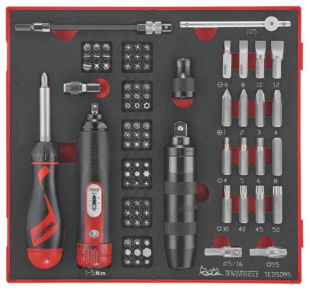 Teng Tools  EVA Torque & Impact Screwdriver Set 95 Pieces