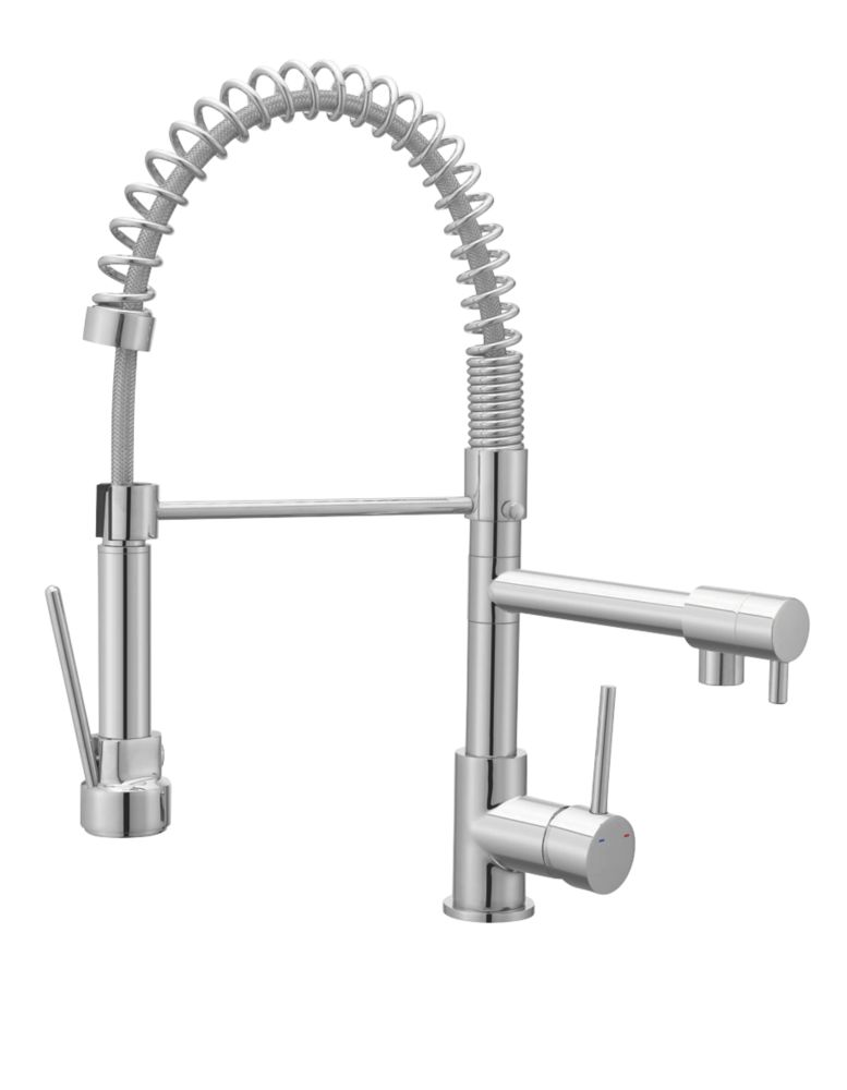 Cooke & Lewis  19A Pull-Out Spray Mono Mixer Kitchen Tap Chrome