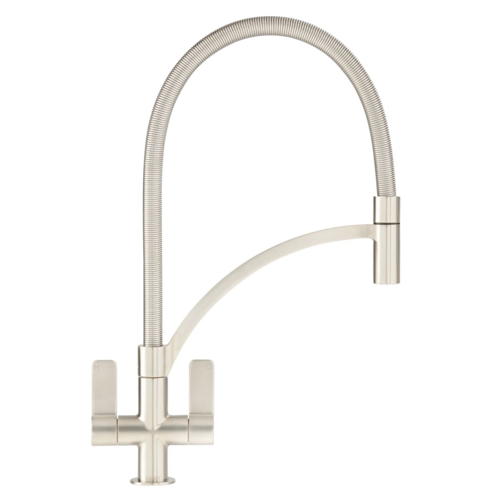 Franke Wave 115.0277.035 Pull-Out Mono Mixer Kitchen Tap Brushed Steel