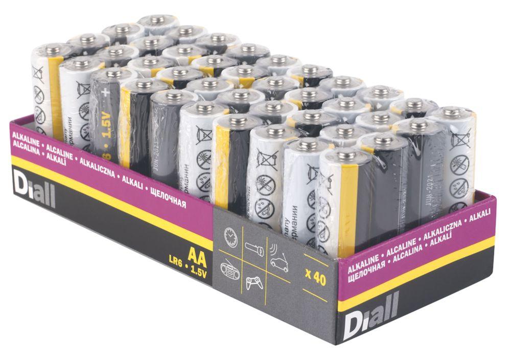 Diall Alkaline AA Batteries 40 Pack