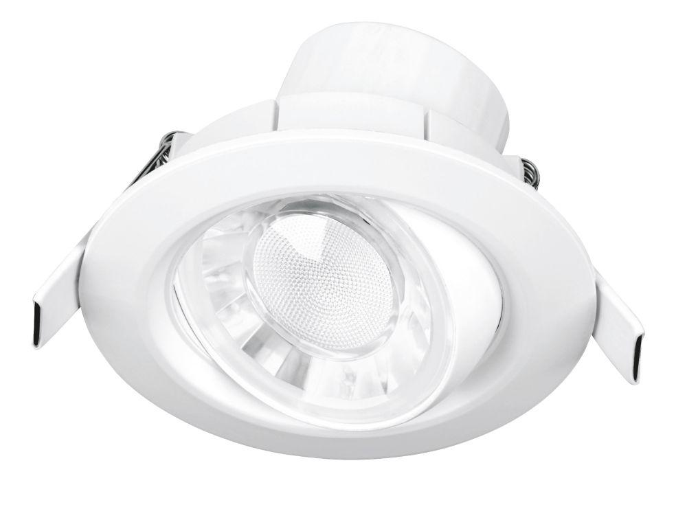 Aurora Spryte Adjustable  LED Downlight White 550lm 8W 220-240V