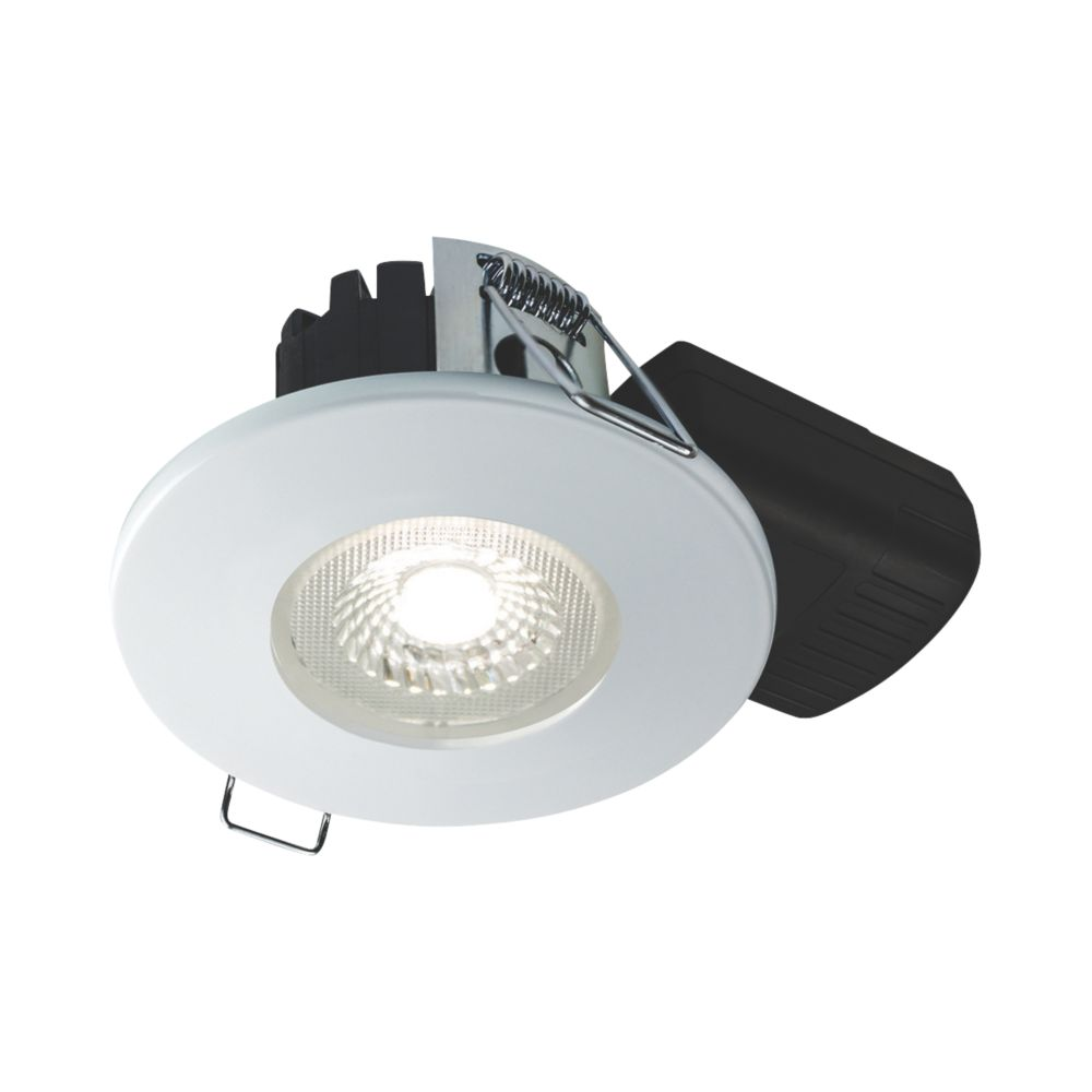 Collingwood DT5 Fixed  Fire Rated LED Downlight Matt White 500lm 5W 220-240V