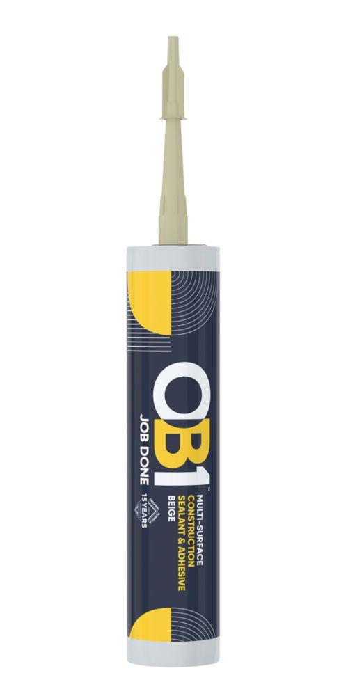 OB1  Multi-Surface Sealant & Adhesive Beige 290ml
