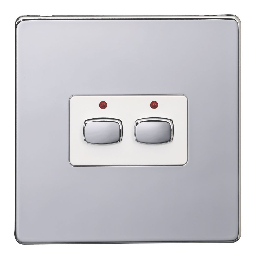 Energenie  2-Gang 2-Way 1A Smart On/Off Light Switch Polished Chrome