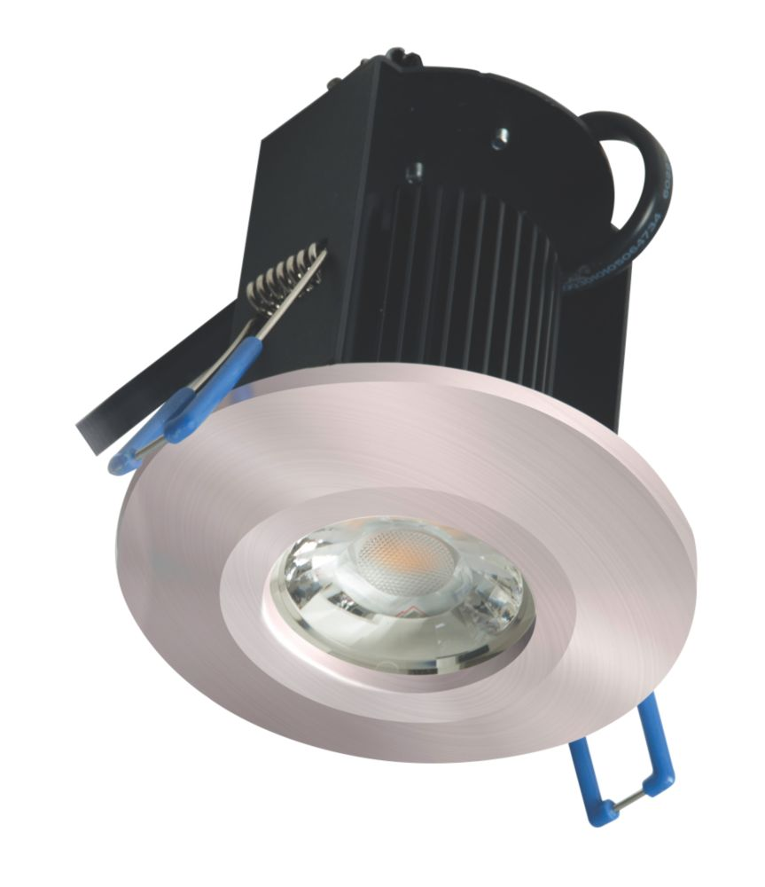 Robus Triumph Activate Sixsense Fixed  Fire Rated LED Downlight Brushed Chrome 640lm 8W 240V
