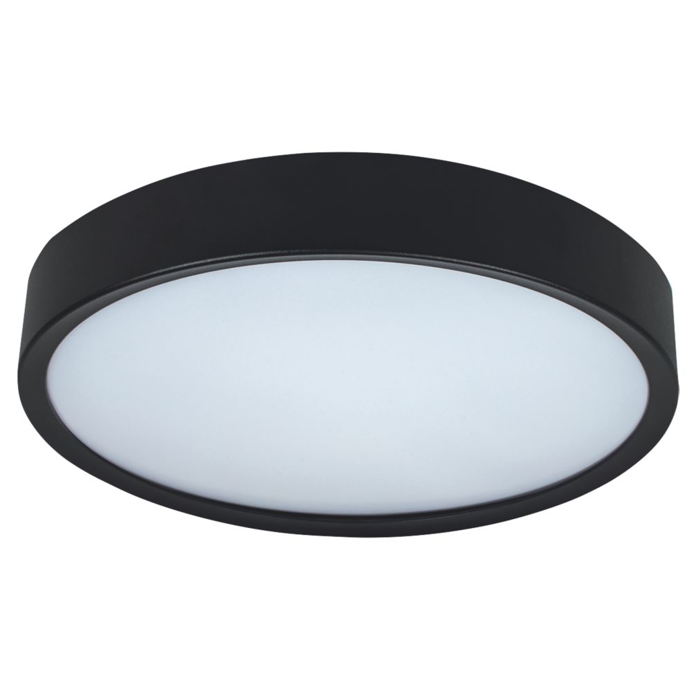 Luceco  Round LED Colour Changing Decorative Ceiling Light Black 18W 1350lm