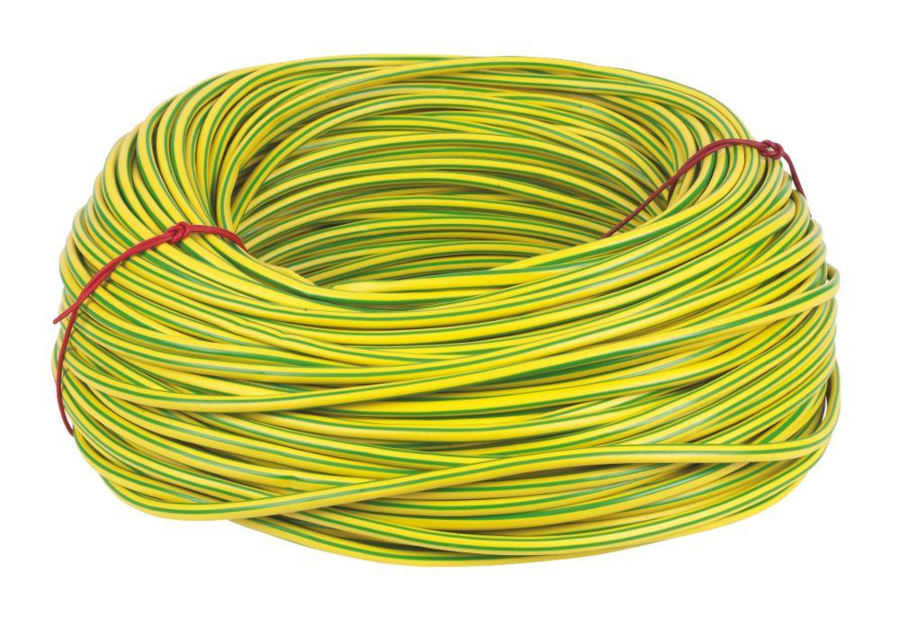 CED PVC Sleeving 6mm x 100m Green/Yellow