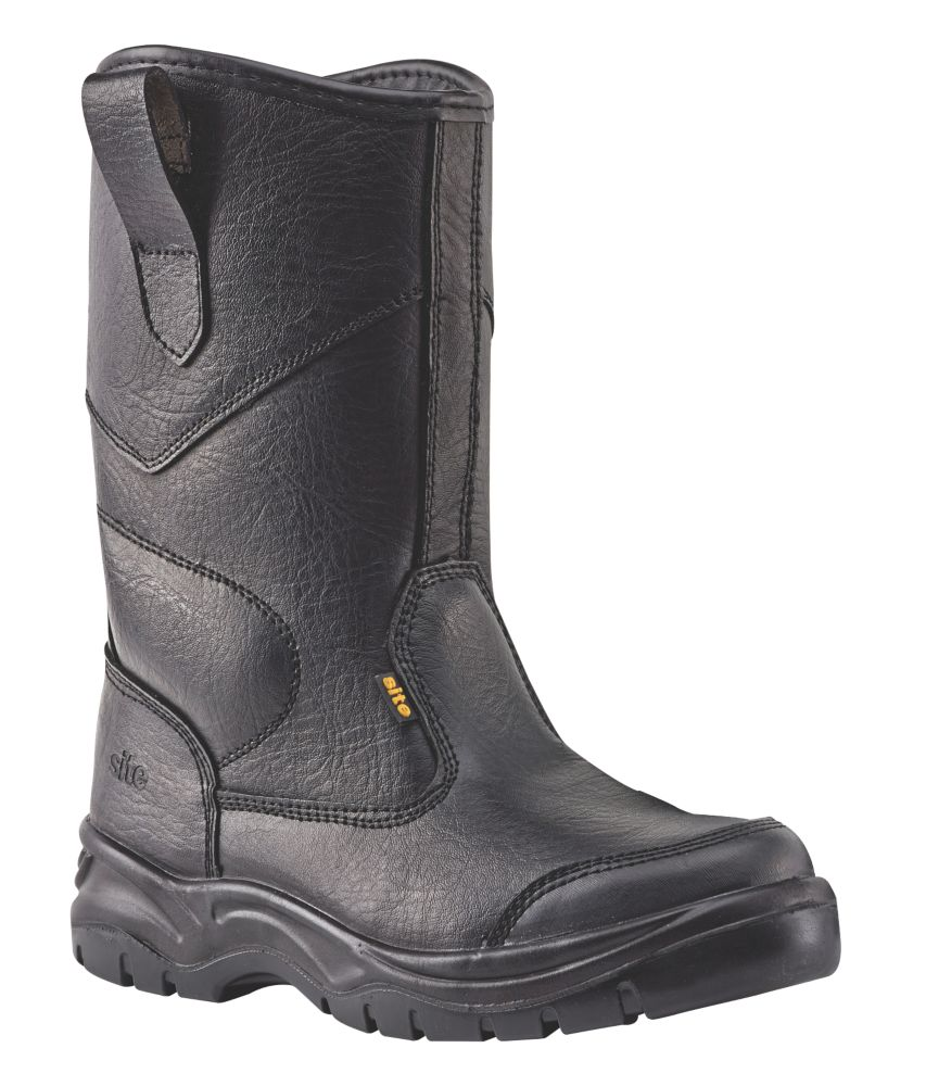 Site Gravel   Safety Rigger Boots Black Size 7
