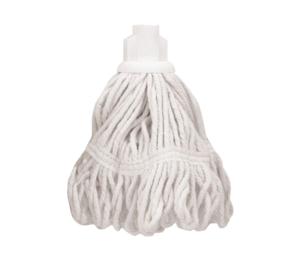 Bentley SF/HR/BS.35/W Pure Yarn Cotton Mop Head White 5 Pack