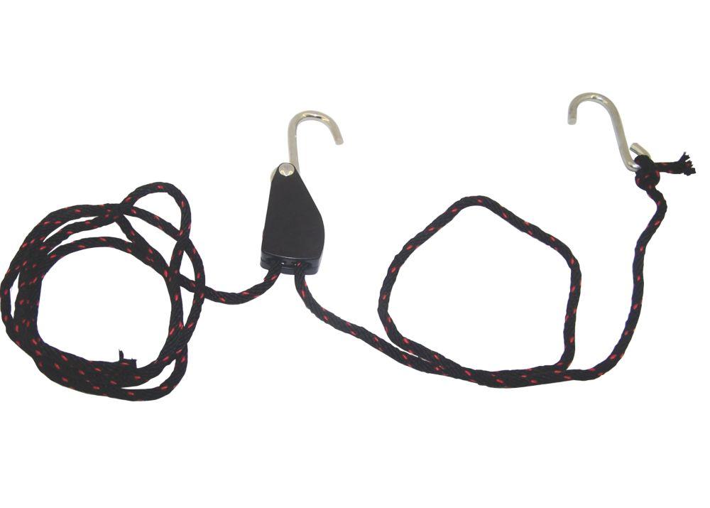 Mottez Securing Hooks & Ratchet Strap 150mm x 30mm