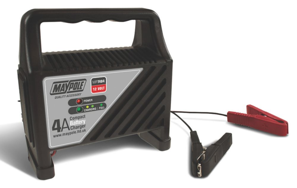 Maypole MP7404 4A Compact Battery Charger 12V