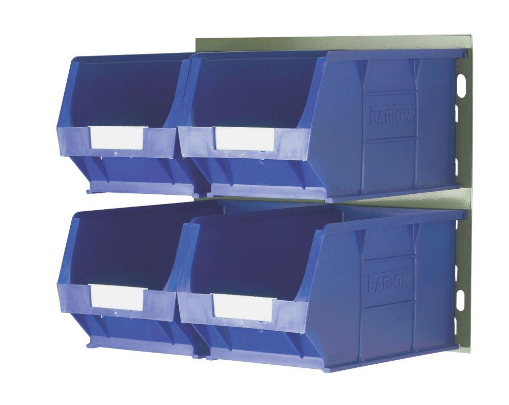 Wall Mountable Bin Kit 4 - 4 x TC4 Bins