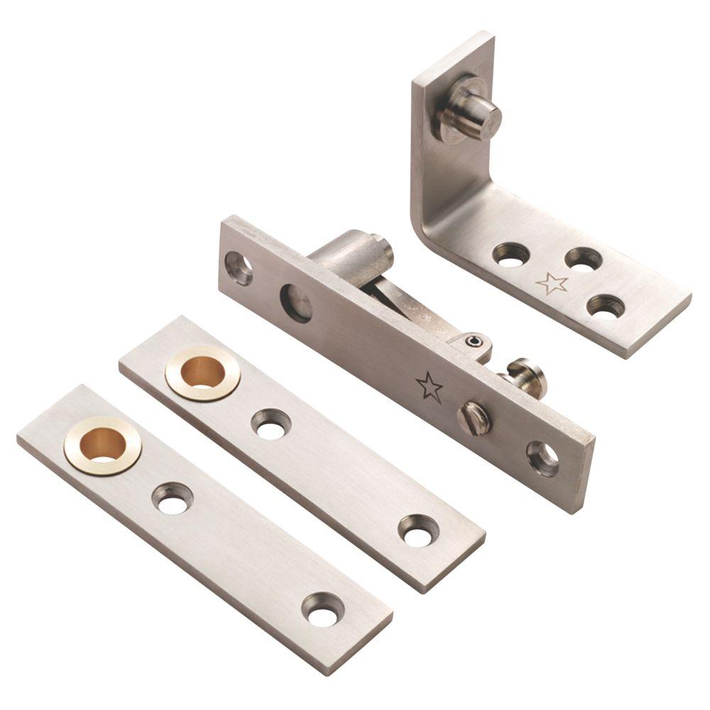 Eurospec Satin Stainless Steel Thrust Bearing Pivot Hinge 130 x 25mm
