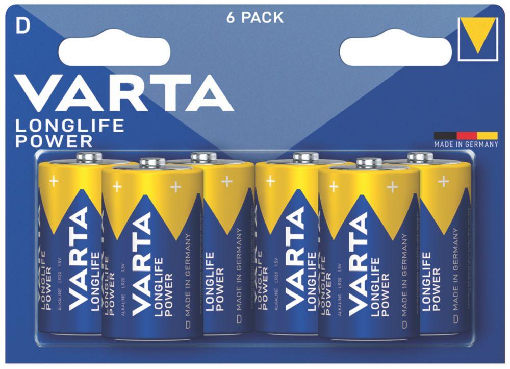 Varta Longlife Power D Batteries 6 Pack