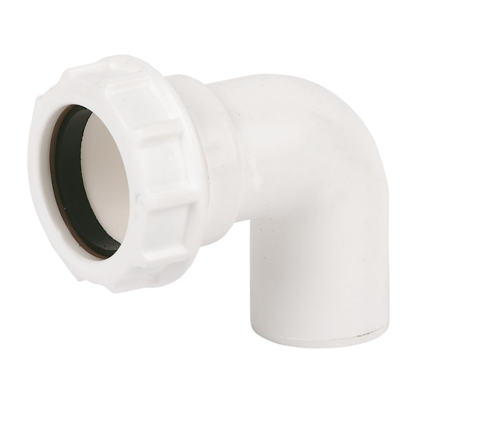 FloPlast WC27 Universal Compression Waste Conversion Bend 90° 40mm