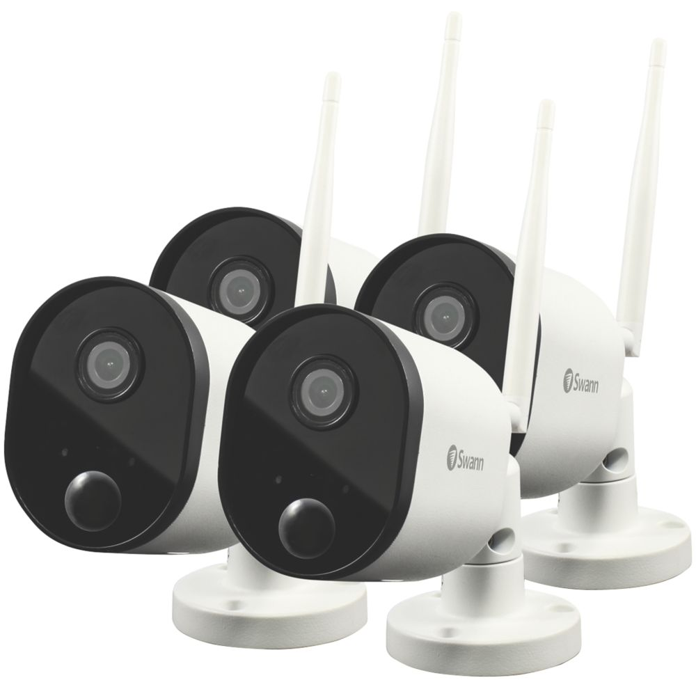 Swann SWWHD-OUTCAMPK4-UK Wi-Fi Outdoor Powered Camera 4 Pack